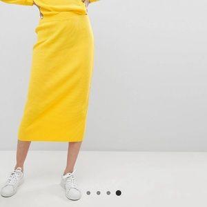 ASOS knitted midi skirt